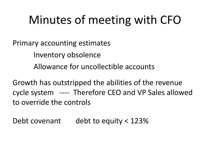 Minutes of meeting with cfo1