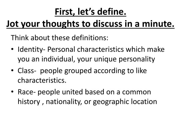 First, let's define.