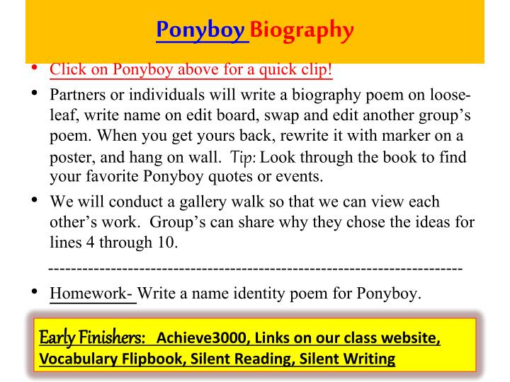 Ponyboy