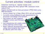 current activities module control