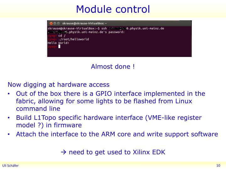 Module control