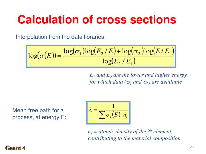 Calculation of cross sections