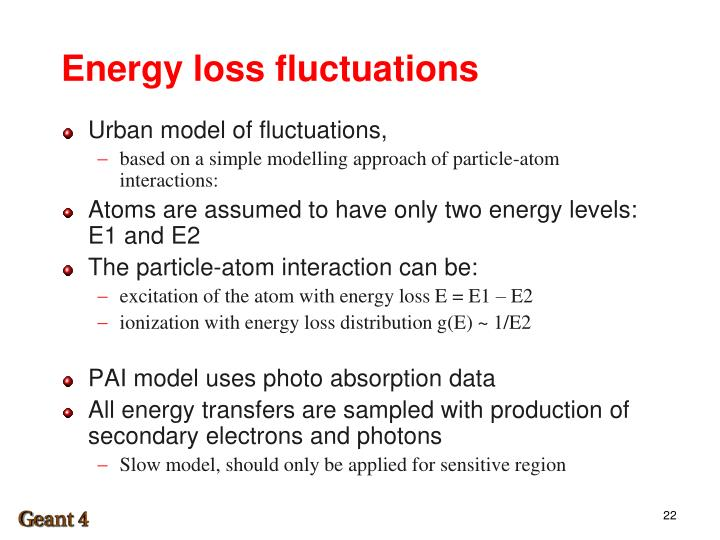 Energy loss fluctuations