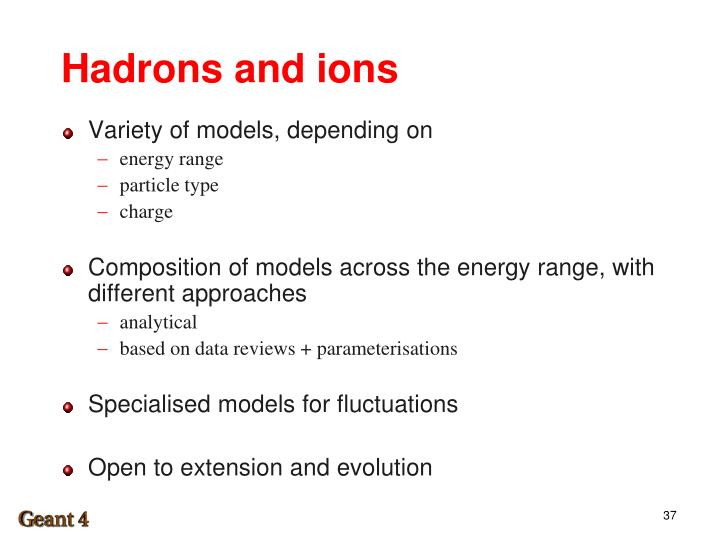Hadrons and ions