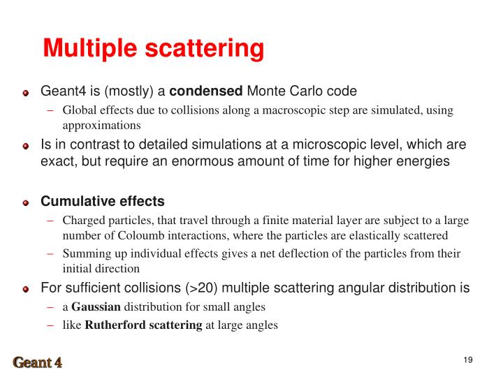 Multiple scattering