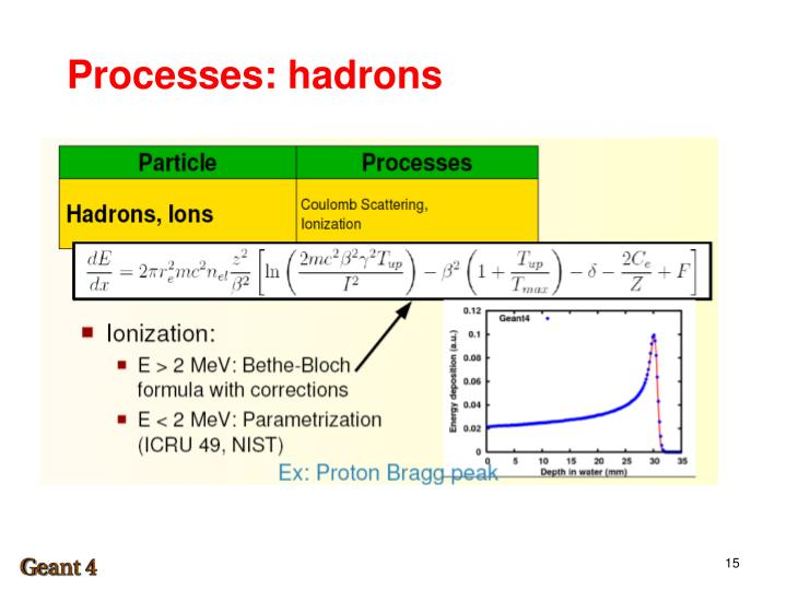 Processes: hadrons