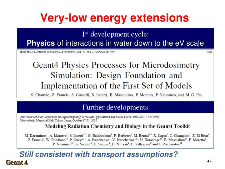 Very-low energy extensions