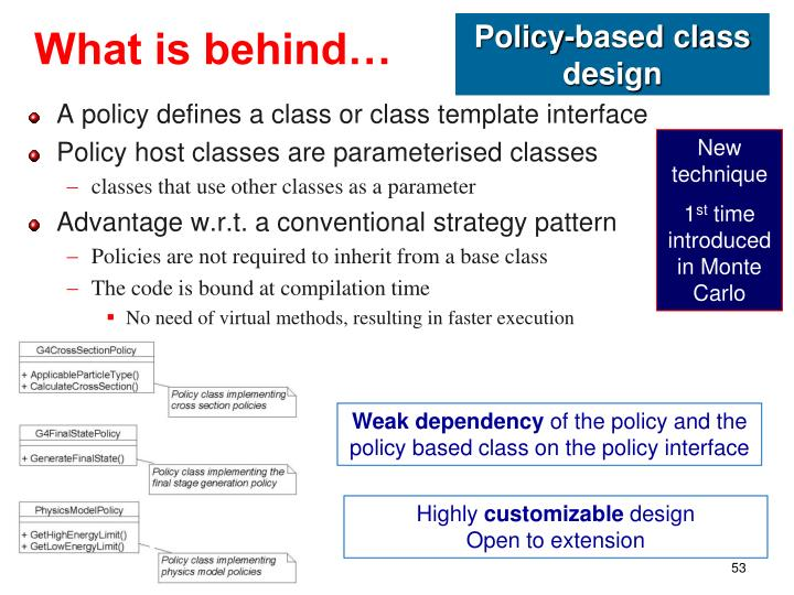 Policy-based class design