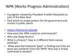 wpa works progress administration