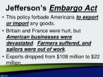 jefferson s embargo act