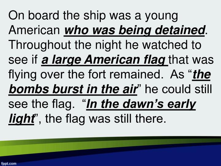 On board the ship was a young American