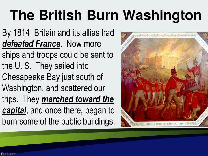 The British Burn Washington