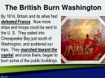 the british burn washington