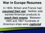 war in europe resumes