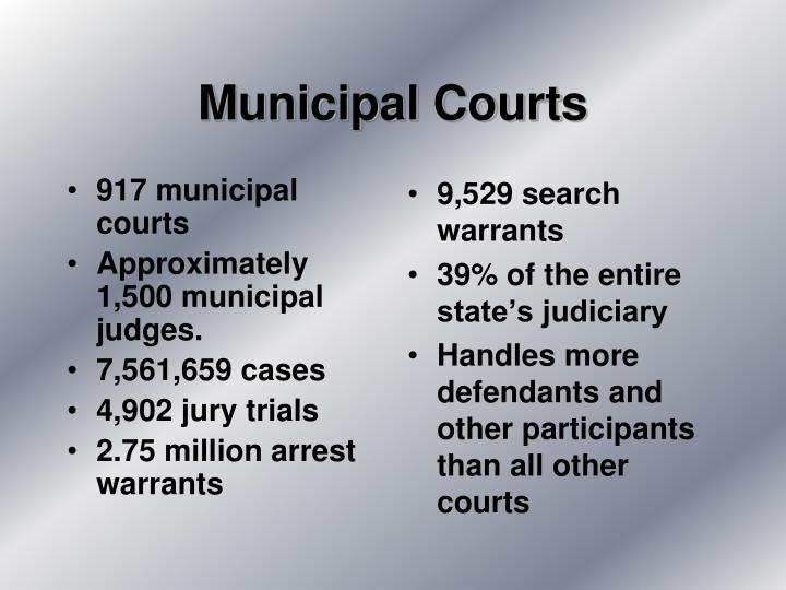 917 municipal courts