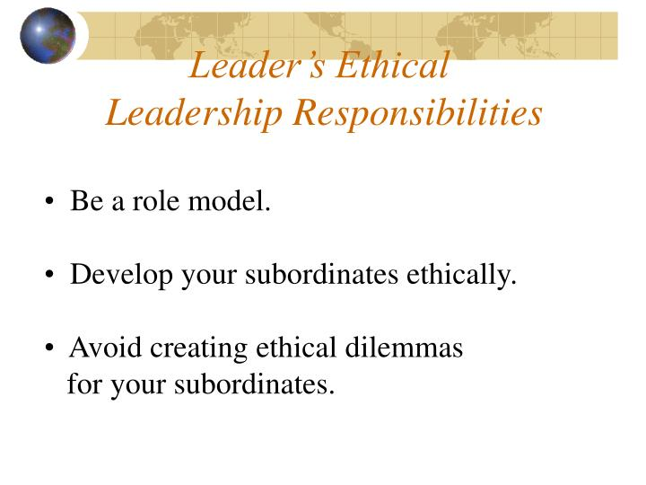 Leader's Ethical