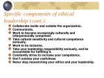 specific components of ethical leadership cont
