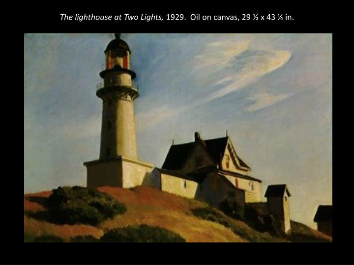 The lighthouse at Two Lights,