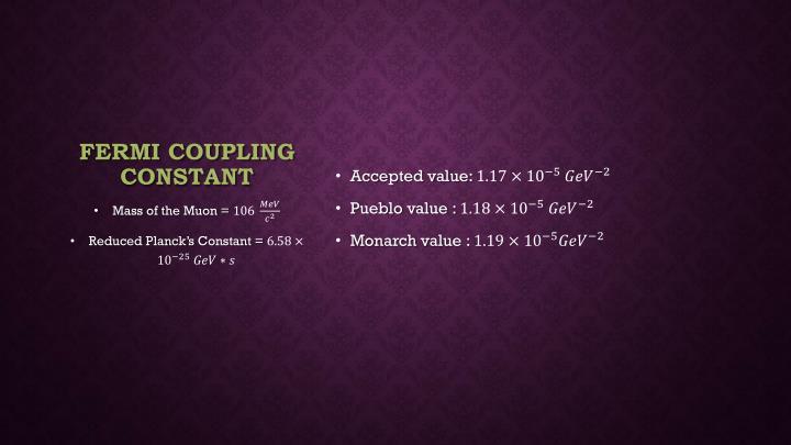 Fermi Coupling Constant