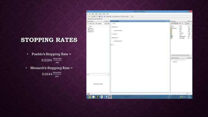 Stopping rates