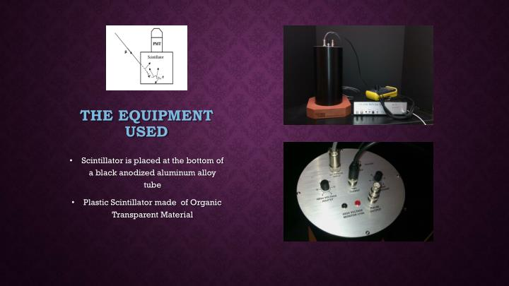 The Equipment used