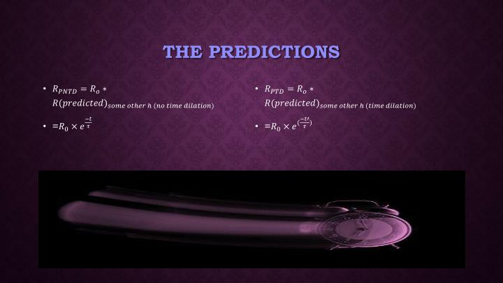 The predictions