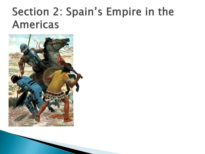 Section 2: Spain's Empire in the Americas
