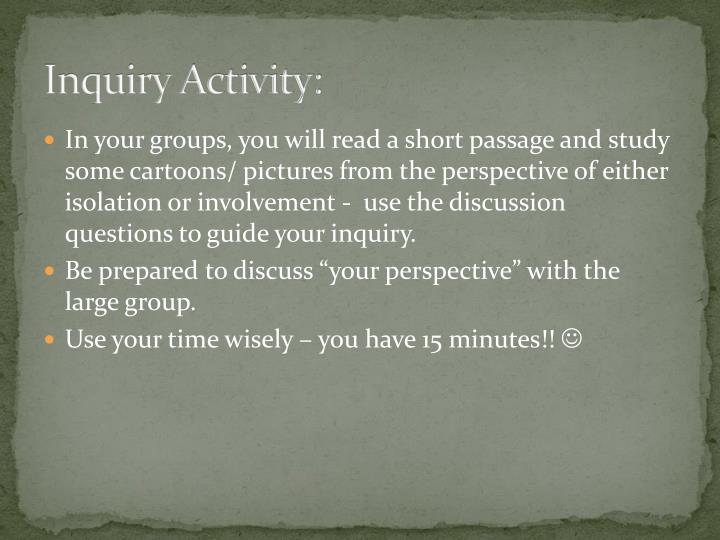 Inquiry Activity: