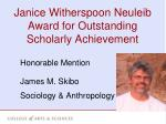 janice witherspoon neuleib award for outstanding scholarly achievement1