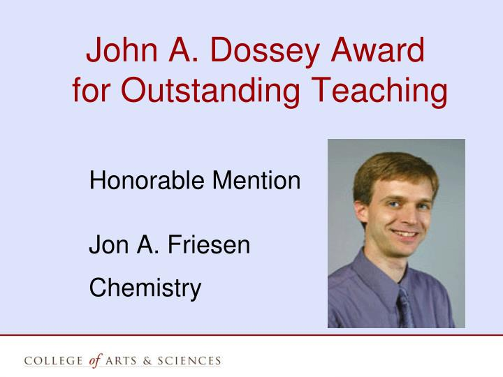 John A. Dossey Award