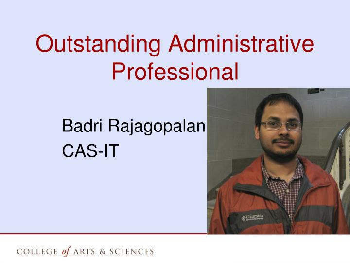 Outstanding Administrative Professional