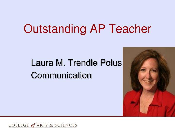 Outstanding AP Teacher