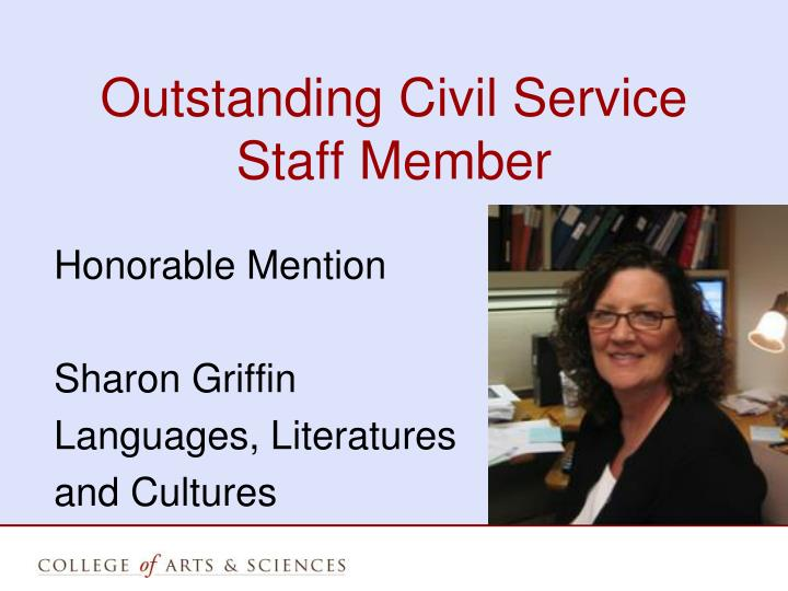 Outstanding Civil Service Staff Member
