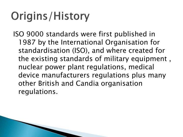 Origins/History