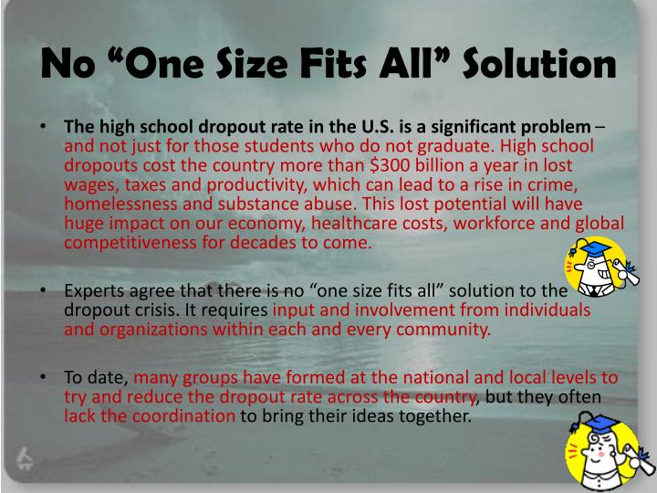 """No """"One Size Fits All"""" Solution"""