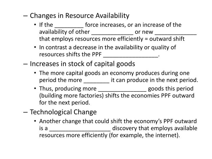 Changes in Resource Availability