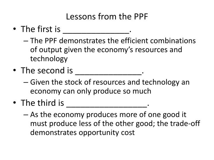 Lessons from the PPF