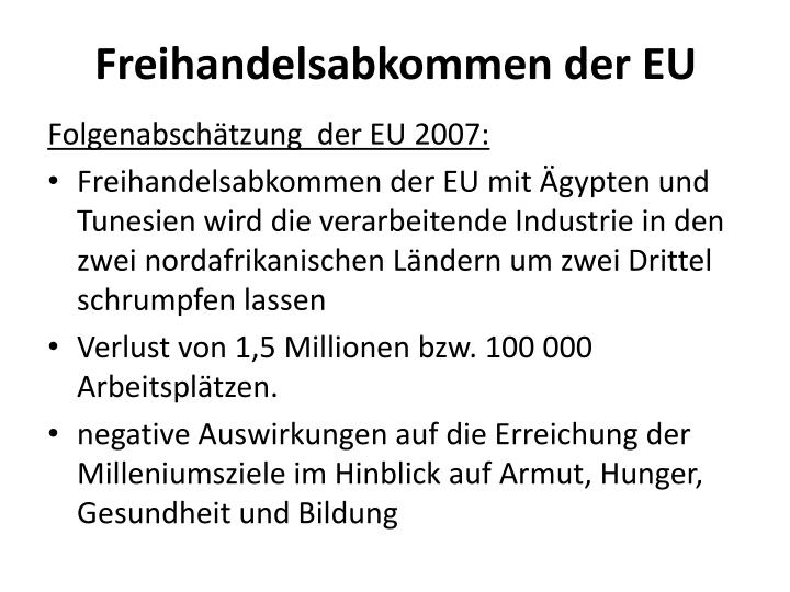 Freihandelsabkommen der EU
