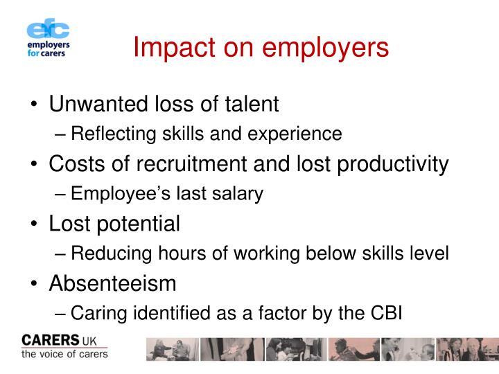 Impact on employers