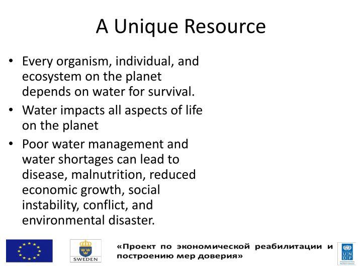 A Unique Resource
