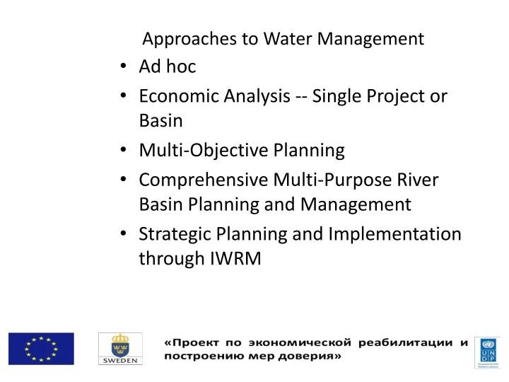 Approaches to Water Management