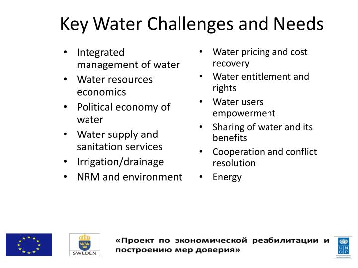 Integrated management of water