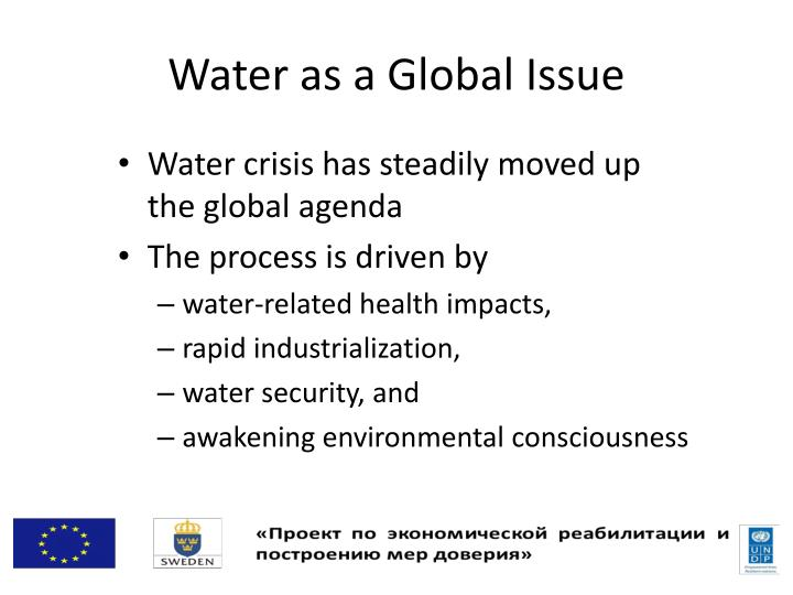 Water as a Global Issue