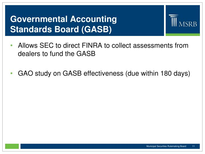 Governmental Accounting Standards Board (GASB)