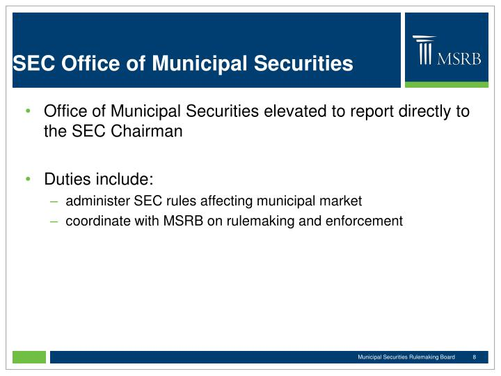 SEC Office of Municipal Securities