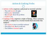 action linking verbs