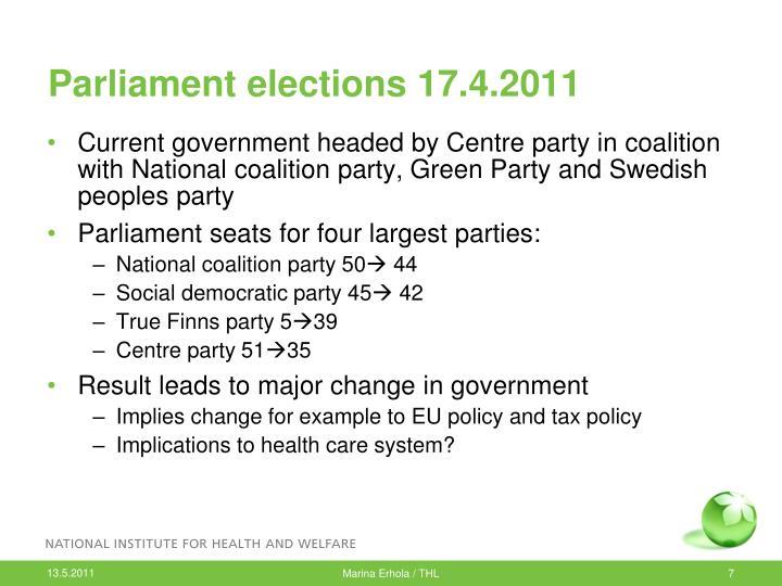 Parliament elections 17.4.2011