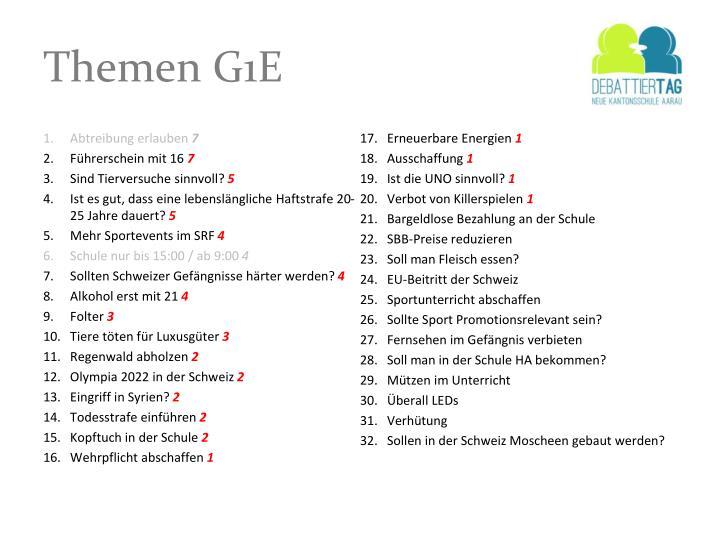 Themen G1E