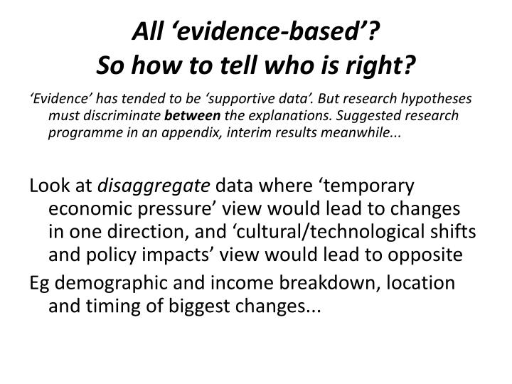All 'evidence-based'?