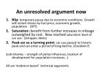 an unresolved argument now